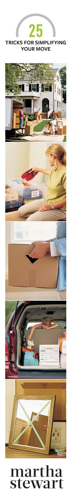 Sold your #home and now have to move? Here are 25 #tips and tricks for simplifying your #move.