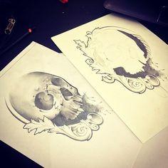 skull portaoggetti
