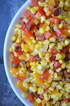 Just a Taste » Confetti Corn with Bacon
