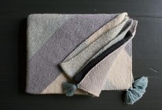 Rectangular Colorblock Bias Blanket   Purl Soho