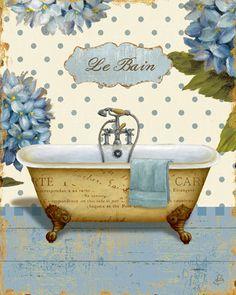 Brissonnet Daphne Thinking of You Bath I, Digitaldruck, Poster