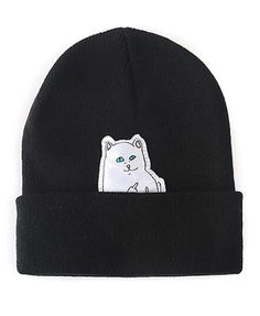 Cat Patch Beanie Hat