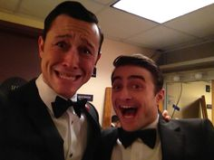 THIS MIGHT BE THE BEST PICTURE I'VE EVER SEEN. JGL and Dan Radcliffe