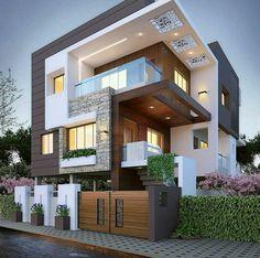 Modern Exterior House Designs, Modern House Facades, Design Exterior, Latest House Designs, Dream House Exterior, Modern Architecture House, Cool House Designs, Modern House Design, Architecture Design