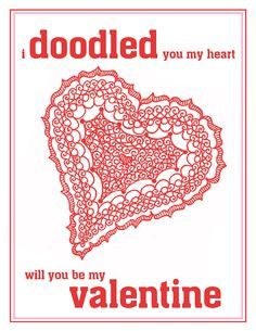 I am thinking of doodling my valentines this year...