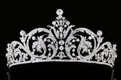 Silver Wedding Pageant Bridal Headpiece Rhinestone Crystal Floral Tiara V967