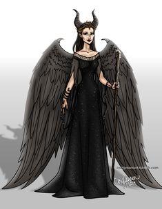 Maleficent by Cory Jensen Maleficent 2014, Maleficent Movie, Malificent, Disney Villains, Disney Pixar, Disney Inspired Fashion, Modern Disney, Art Costume, Disney Drawings