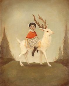 The Deer Lord gives this small child a ride. He is merciful and kind.