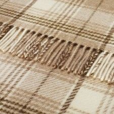 Bronte by Moon Huntingtower Natural Shetland Wool Throw