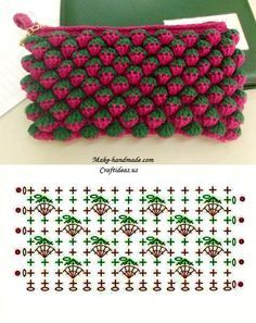 Today we bring you one special crochet stitch: Strawberry Stitch. Has this name because it looks like strawberries. It's simply marvelous! Here you can find an tutorial, step by step, a PDF pattern