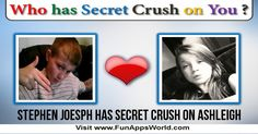 Check my results of Who has Secret Crush on You? Facebook Fun App by clicking Visit Site button