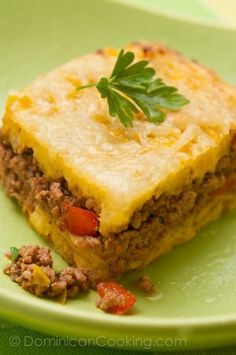 Dominican food recipes -- delicious comfort foods, including plantain pie!