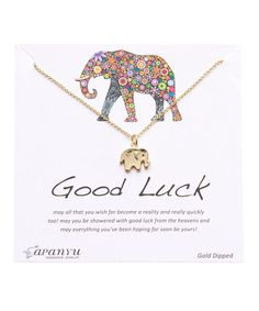 Look at this #zulilyfind! Gold Good Luck Pendant Necklace by Sapanyu #zulilyfinds