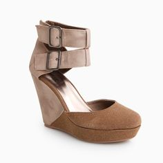 Ankle Buckle Strap Wedge
