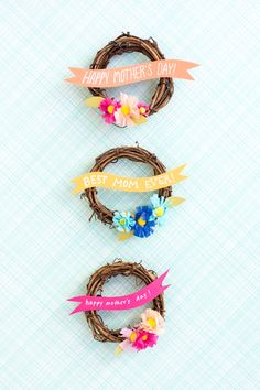 Miniature Mother's Day Wreaths DIY | Oh Happy Day! | Bloglovin'