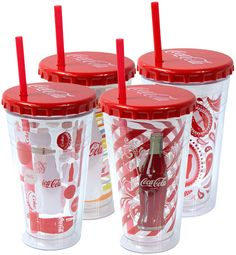 16oz double wall chiller with Coca-Cola® graphics and bottle cap lid - shop.coolgearinc.com