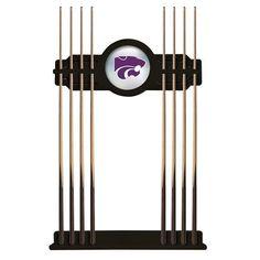 Kansas State Wildcats Eight Stick Pool Cue Rack - Black - $199.99