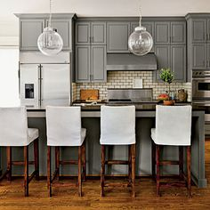 After: Neutral Update Kitchen - Our Best Before and After Home Renovations - Southern Living