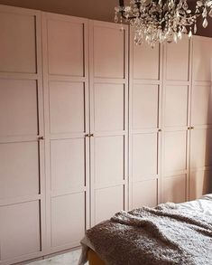 To inspire your next project, we rounded up some IKEA hacks that turn boring furniture into eye-catching statement pieces. IKEA has never looked more wardrobe Easy IKEA Hacks That Lend Serious Wow-Factor to a Room Ikea Wardrobe Hack, Ikea Closet Hack, Wardrobe Room, Closet Hacks, Diy Wardrobe, Closet Bedroom, Bedroom Storage, Bedroom Wardrobes Built In, Ikea Fitted Wardrobes