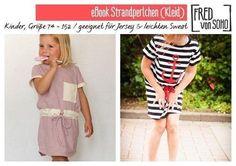 "Kleid ""Strandperlchen, Nähanleitung inkl. Schnittmuster Gr. 74 - 152 - Schnittmuster und Nähanleitungen bei Makerist sofort runterladen"