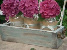 SHIPS+FREE+in+the+US+Rustic+Chic+Planter+Box++by+myhydrangeahome,+$59.00
