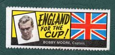 BOBBY MOORE 1966 A & BC GUM WORLD CUP FOOTBALL STAMPS