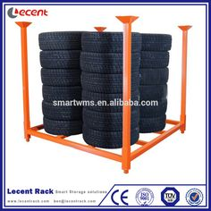 Trade Assurance Metal Demountable Stackable Warehouse Storage Box Beam Tire Rack With Removable Posts