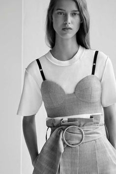 A statement wardrobe piece, this unique bralet by Boutique can be worn alone or used for layering. In a tailored fit, this bralet also features contrast grosgrain straps. #Topshop