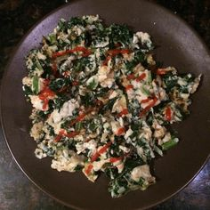 Yep I'm posting a food pic...know how much some of you love those especially when it looks like a dog's breakfast  Just arrived home after being on the go since 5am tucked my little one in  and need a little something and this is what I felt like: 1 egg 1/2 cup egg whites 1 oz goat cheddar cheese 1 cup kale (need to get some more micronutrients such as vitamin A in for the day) sriracha sauce (a staple for me) #nocomplaints #lovewhatyoudo #snacktime #lowcarb #youarewhatyoueat #nutrition…