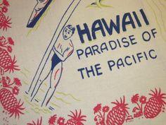 Vintage surf wear label