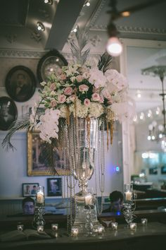1920's Inspired Glamorous Celebration on Borrowed & Blue.  Urban Earth Design Studios - Wedding Planner Michelle Adams   Photo Credit: Dennis Kwan Weddings
