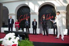 sul palco con i protagonisti del Premio Galileo 2014