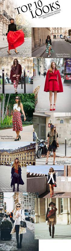 Os Looks das Blogueiras Gringas nas Semanas de Moda