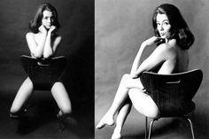 Parte del éxito de esta silla se debe a las fotografías de Christine Keeler al desnudo realizadas por Lewis Morley. Christine fue una corista que mantuvo una relación con el Ministro de Guerra británico, John Profumo, y con un espía soviético, lo que provocó un gran escándalo. Éste se magnificó tras la publicación de las instantáneas en las que Keeler sólo está tapada con la Número siete de Jacobsen. +++