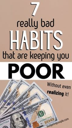 Ways To Save Money, Money Saving Tips, Making A Budget, Frugal Living Tips, Budgeting Money, Bad Habits, Live, Saving Tips, Budgeting Tips