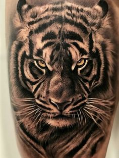 Tiger Tattoo Back, Mens Tiger Tattoo, Animal Sleeve Tattoo, Lion Tattoo Sleeves, Tiger Tattoo Design, Animal Tattoos, Cool Arm Tattoos, Best Sleeve Tattoos, Head Tattoos