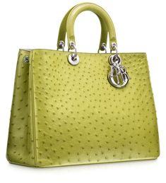 #Dior Green ostrich 'Diorissimo' bag