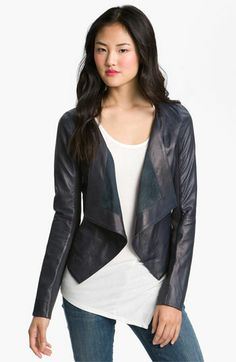 Trouvé Cascade Leather Jacket available at #Nordstrom. I wish they had it in black #leather