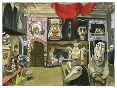 """En Belo Horizonte tuve oportunidad de visitar el """"Museu Giramundo"""", dedicado a las producciones de teatro de marionetas del Grupo Giramundo. Tuvo mucho de onírico aquella visita durante la que estuve completamente solo la mayor parte del tiempo, deambulando en silencio, de sala en sala, sintiéndome observado por todos aquellos seres aparentemente durmientes... Me sentí un pelín personaje de Miyazaki."""