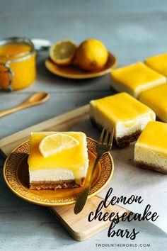 Lemon Curd Cheesecake, Cheesecake Bars, Citroen Cheesecake, Homemade Cakes, Cheesecakes, Baked Goods, Panna Cotta, Sweets, Baking
