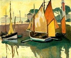 Le port de La Rochelle, marée basse : Albert Marquet, 1920