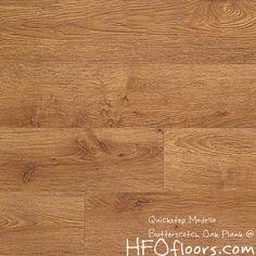Quickstep Modello, Butterscotch Oak laminate plank. Available at HFOfloors.com.