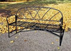 Lattice Iron Bench. Product in photo is from www.wellappointedhouse.com