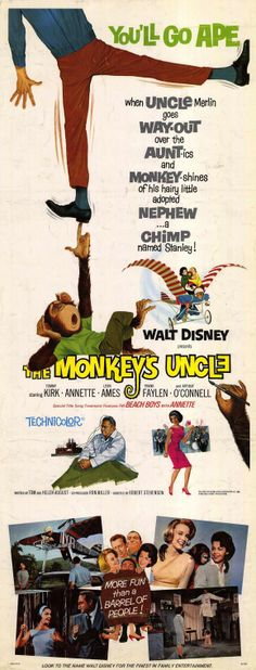The Monkey's Uncle disney movie poster