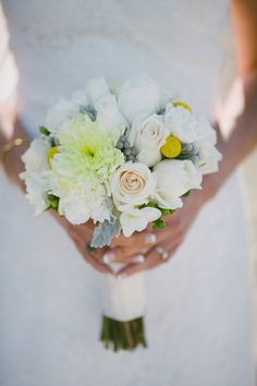 wedding bouquets yellow and gray | Wedding Flowers: 20 Bouquets Inspired By Real Brides