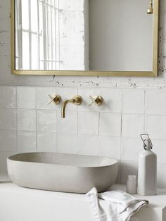 'Rho' RH.A in grey white by Kast Concrete Basins as seen in the Bert & May…