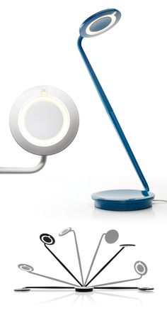 The Pixo from Pablo. An LED task light that lasts 50,000 hours and features the flexibility of a 360 degree rotation.