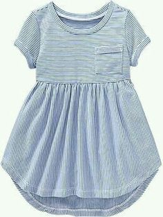 Striped High-Low Terry Dress - Old Navy - Great Baby Clothes Little Girl Fashion, Toddler Fashion, Toddler Outfits, Kids Outfits, Kids Fashion, Fashion Clothes, Toddler Girl Dresses, Toddler Girls, Kids Girls