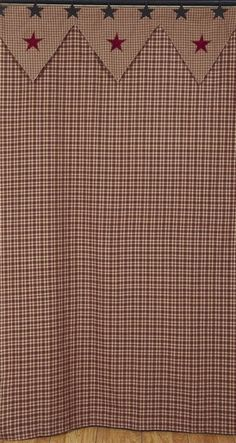 americana bathroom curtain, have the gingham already, like topper--OMGosh! I have to have this--SWEET<3