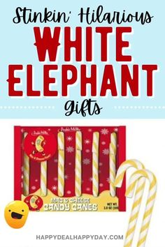 What to win the funniest White Elephant Gifts award this year? Check out this list of 20  hilarious white elephant gifts or gag gifts that you can have some fun with this year!! #whiteelephant